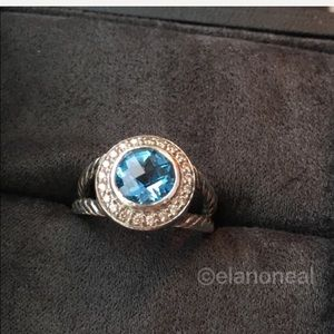David Yurman Blue Topaz Cerise Ring